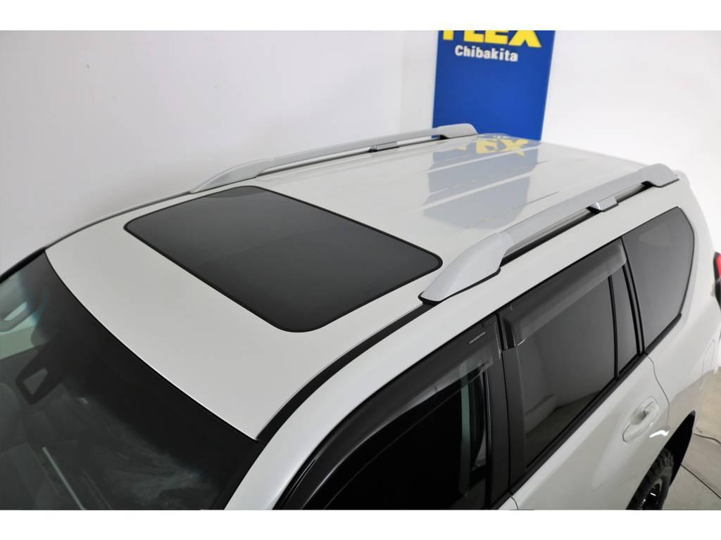 ディーラーオプションルーフレール付き! | トヨタ ランドクルーザープラド 2.8 TX ディーゼルターボ 4WD 5人 新車未登録車 9インチナビ