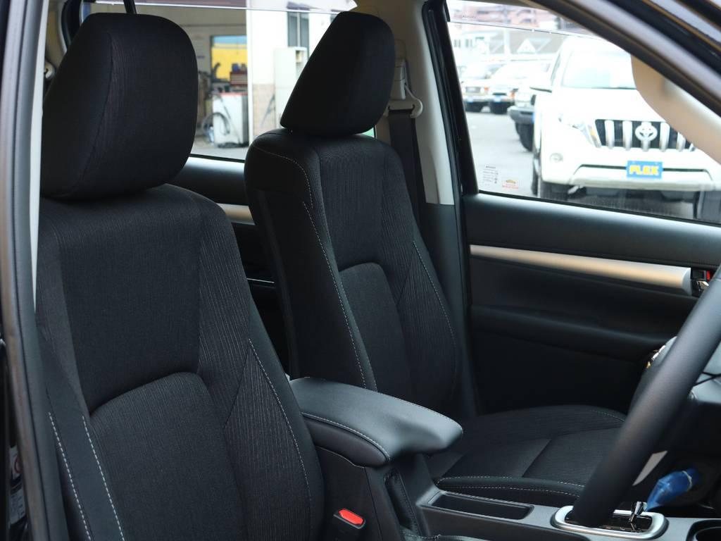 上質なファブリックシート★座り心地も良いです♪是非当店で実際に座ってみてください! | トヨタ ハイラックス 2.4 Z ディーゼルターボ 4WD Z 11ナビ 20AW&KO2 2UP