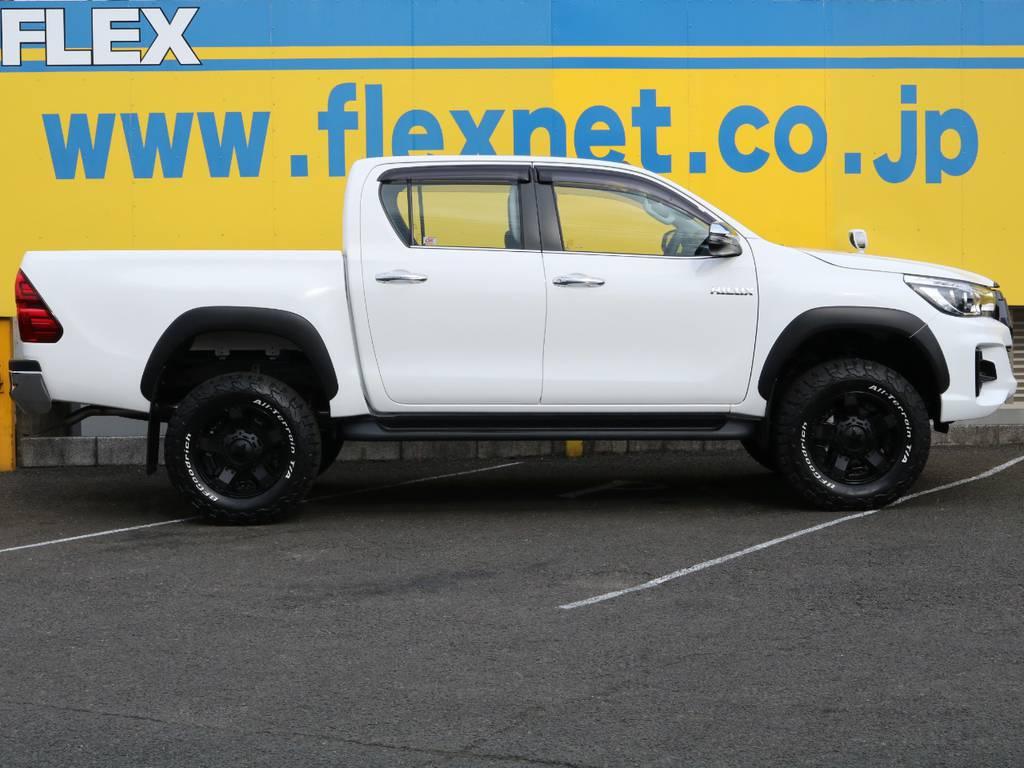 当店の在庫車は全て車輌検査専門会社である第三者機関(株)AIS、日本自動車鑑定協会(JAAA)にて1台1台、必ず二重の車輌チェックを実施しております。修復歴有りの車、事故車の無断販売はいたしません。 | トヨタ ハイラックス 2.4 Z ディーゼルターボ 4WD Z ROCCO仕様 リフトUP 17AW