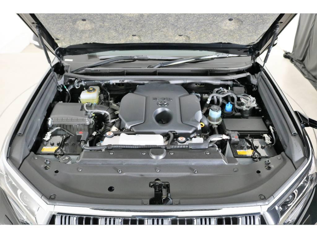 店舗敷地内に工場完備ですので車検から整備までお任せください。 | トヨタ ランドクルーザープラド 2.8 TX ディーゼルターボ 4WD 7人 新車未登録車 9インチナビ