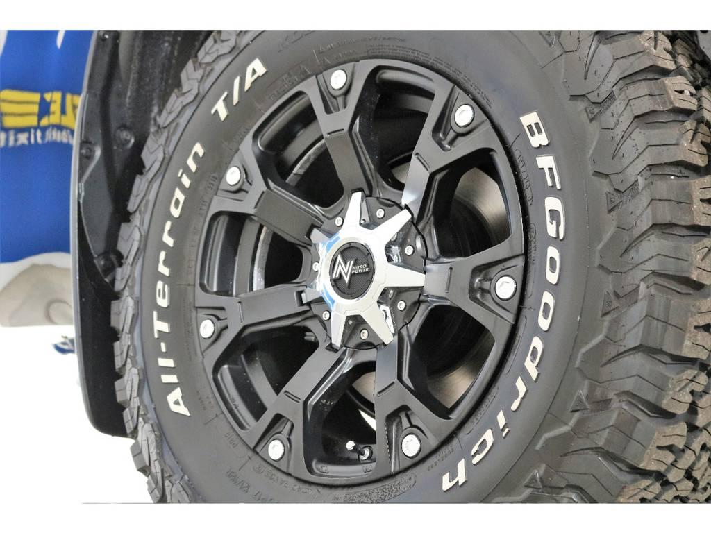 新品ナイトロパワー17インチホイール&新品BFグッドリッチATタイヤを装着致しました! | トヨタ ランドクルーザープラド 2.8 TX ディーゼルターボ 4WD 7人 新車未登録車 9インチナビ