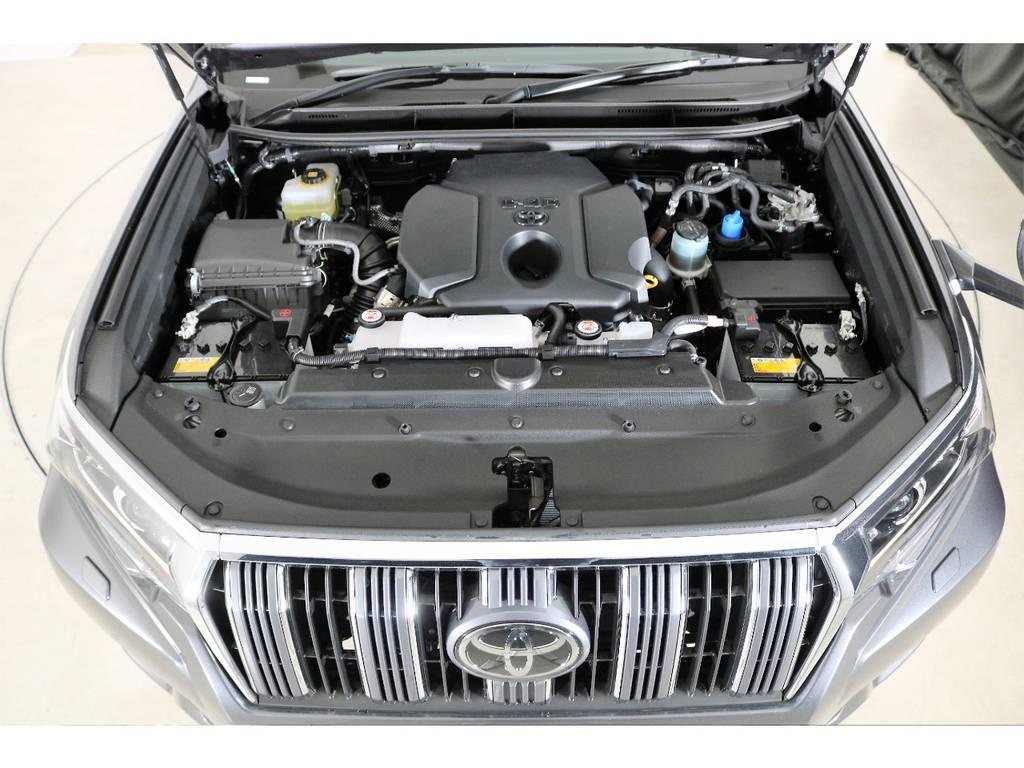 店舗敷地内に工場完備ですので車検から整備までお任せください。   トヨタ ランドクルーザープラド 2.8 TX ディーゼルターボ 4WD 5人 新車未登録車 9インチナビ