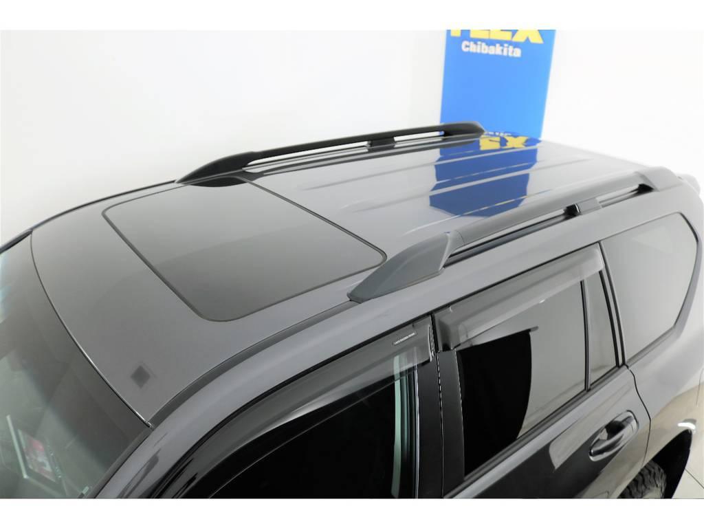 メーカーオプションルーフレール付き!   トヨタ ランドクルーザープラド 2.8 TX ディーゼルターボ 4WD 5人 新車未登録車 9インチナビ