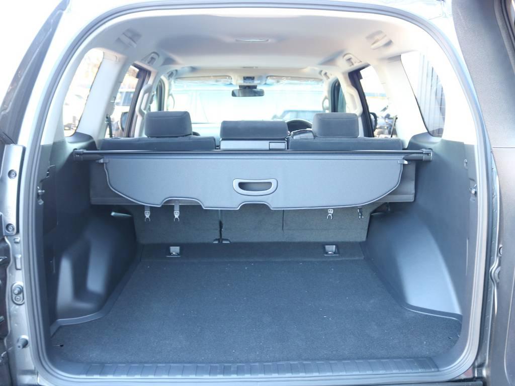 広々したラゲッジルーム!大容量でキャンプ用品なども沢山収容できます!   トヨタ ランドクルーザープラド 2.8 TX ディーゼルターボ 4WD 5人 新車未登録車 9インチナビ