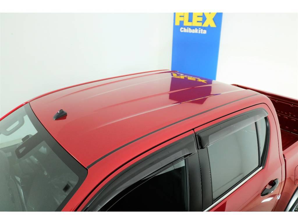 天井面ももちろん綺麗です☆ | トヨタ ハイラックス 2.4 Z ブラック ラリー エディション ディーゼルターボ 4WD 新車未登録車 11インチナビ