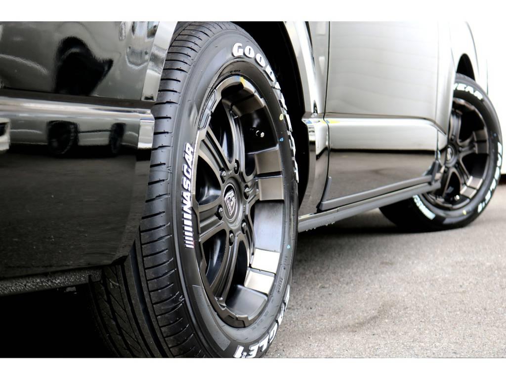 FLEXバルベロ17インチアルミ!GOODYEARタイヤ! | トヨタ ハイエースバン 2.8 スーパーGL 50TH アニバーサリー リミテッド ロングボディ ディーゼルターボ 4WD 50THナビPK