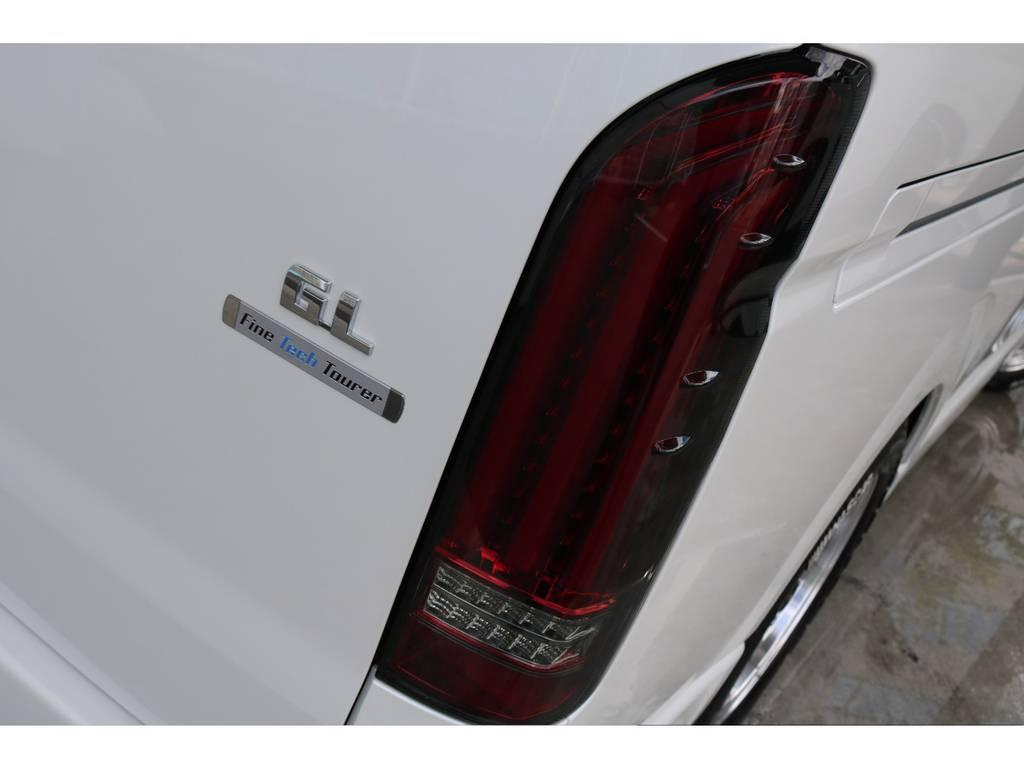 ☆新作☆FLEXオリジナルアルティメットLEDテールランプ装着!! | トヨタ ハイエース 2.7 GL ロング ファインテックツアラー 両側パワスラ ETC2.0