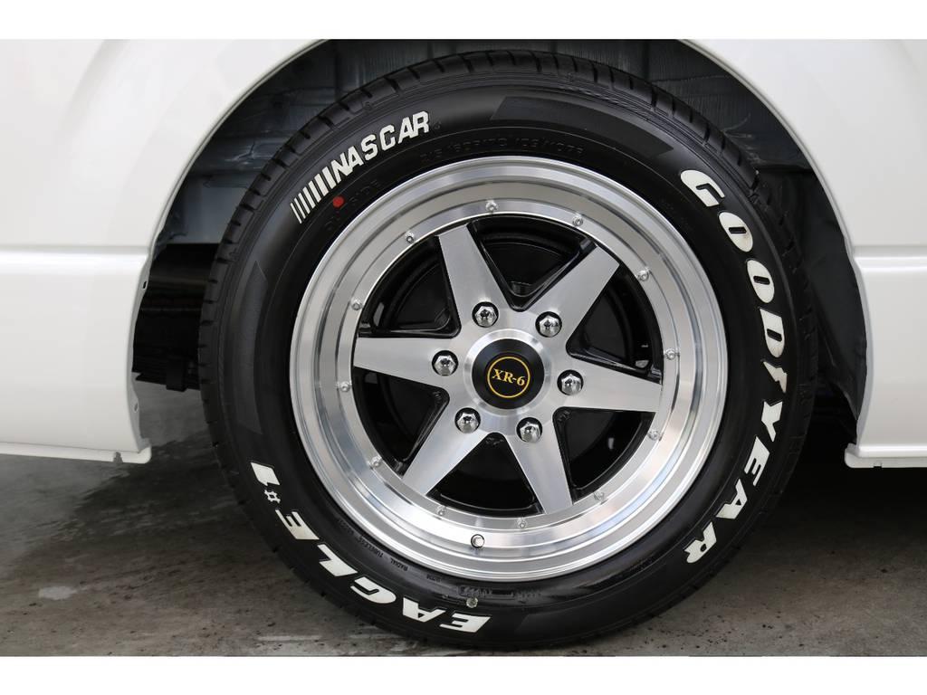 XR-6 17インチAW/グッドイヤーナスカー17インチタイヤ | トヨタ ハイエース 2.7 GL ロング ファインテックツアラー 両側パワスラ ETC2.0