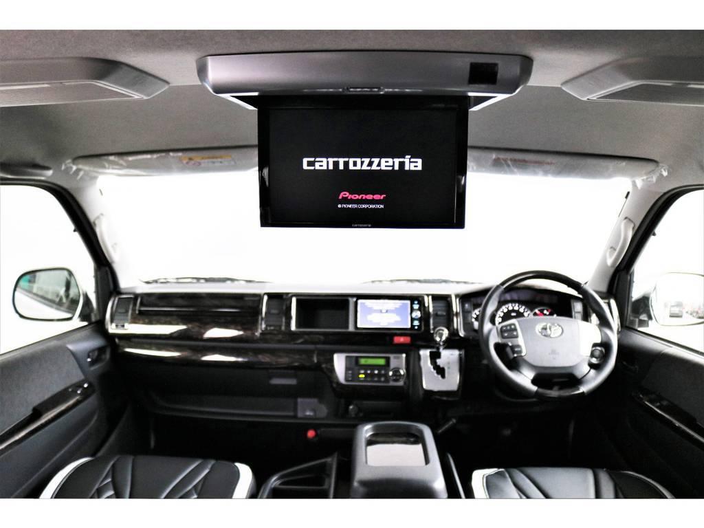 画質のいいカロッツェリアの後席モニター搭載です!! | トヨタ ハイエース 2.7 GL ロング ファインテックツアラー 両側パワスラ ETC2.0