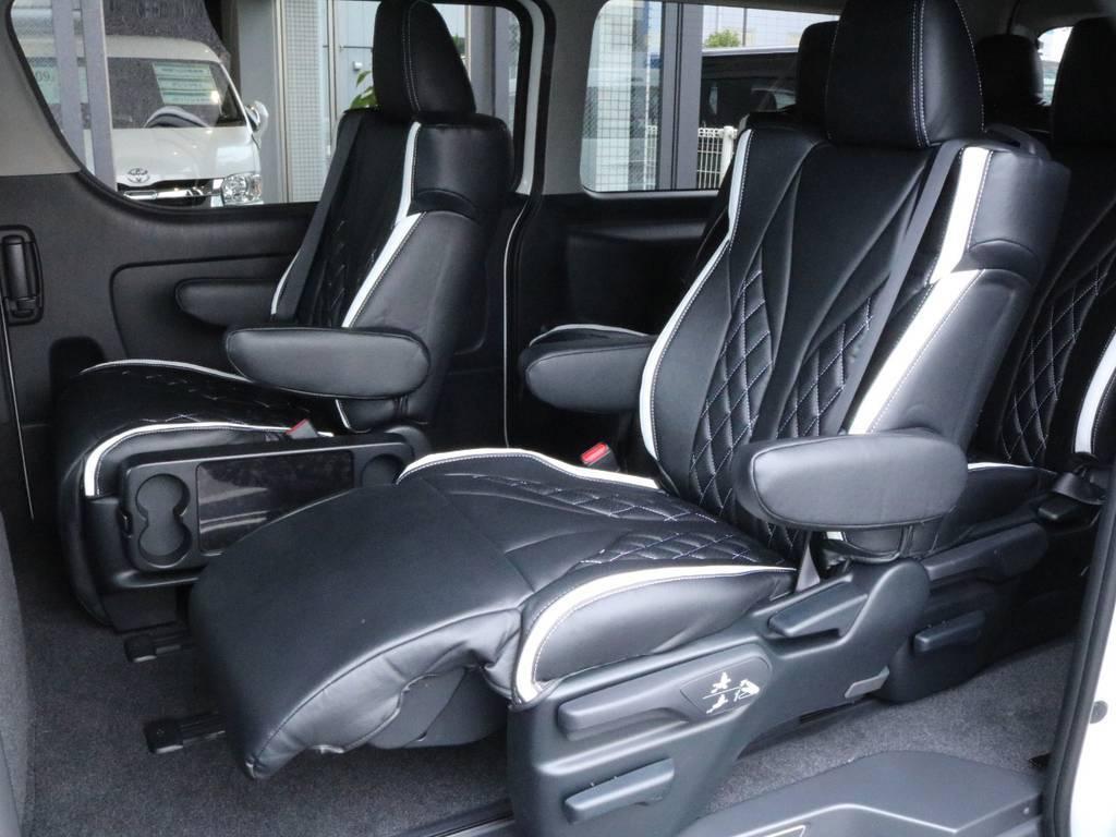 後席はキャプテンシートで乗り心地バツグンです♪ | トヨタ ハイエース 2.7 GL ロング ファインテックツアラー 両側パワスラ ETC2.0