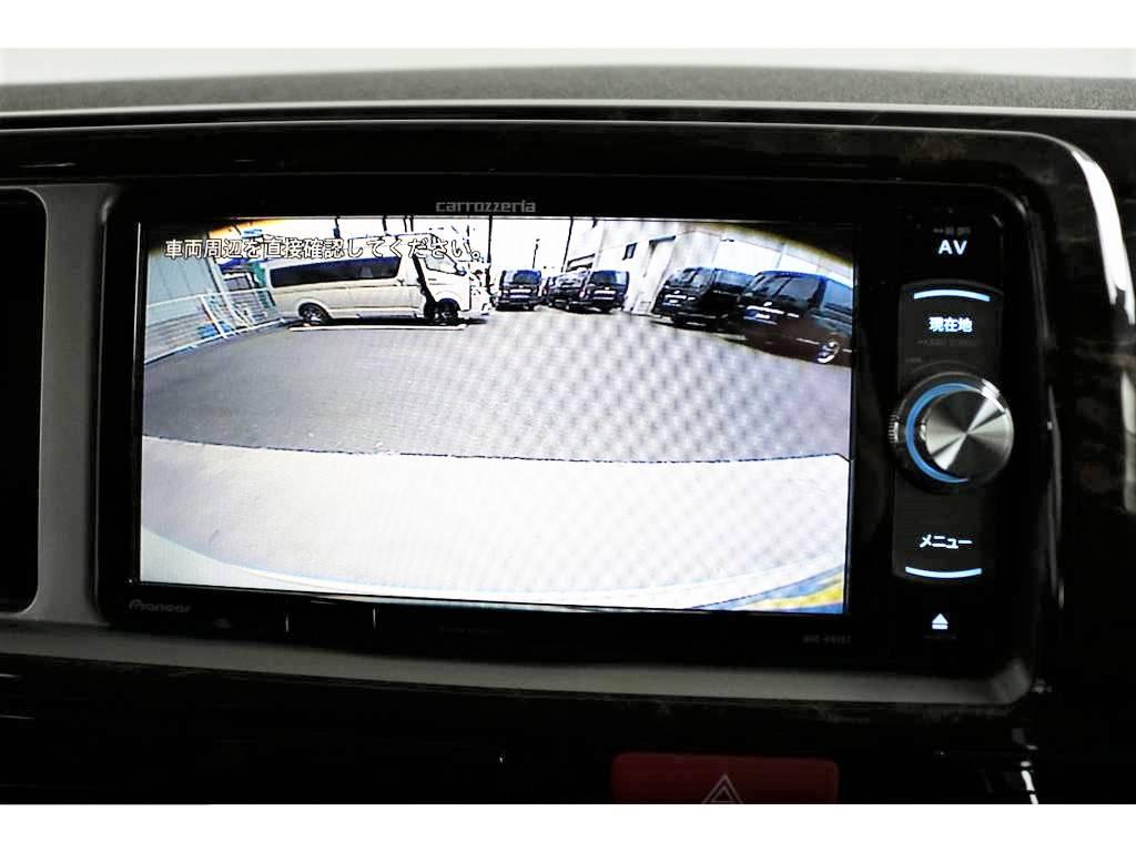 バックカメラ搭載!!視界もこんなに広々です! | トヨタ ハイエース 2.7 GL ロング ファインテックツアラー 両側パワスラ ETC2.0