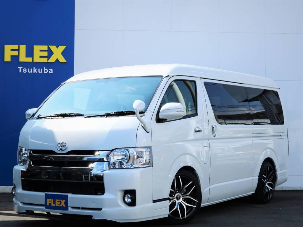 新車ハイエースW「GL」10人乗り2WDガソリン!18AW・国産タイヤ・SDナビ・フルセグTV・後席モニター♪