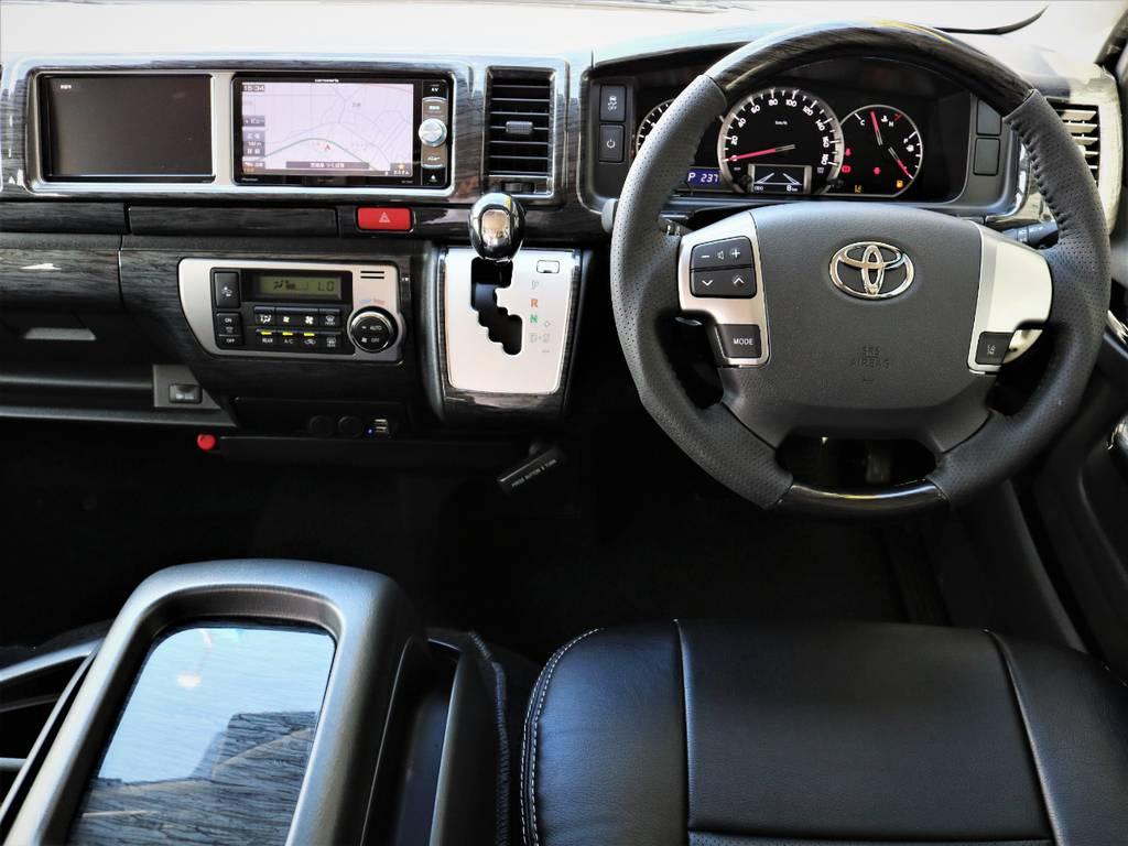 高級感溢れる室内! | トヨタ ハイエース 2.7 GL ロング ミドルルーフ 内装アレンジVER2