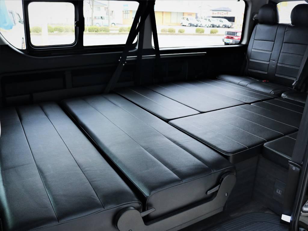 オールフルフラットの状態! | トヨタ ハイエース 2.7 GL ロング ミドルルーフ 内装アレンジVER2