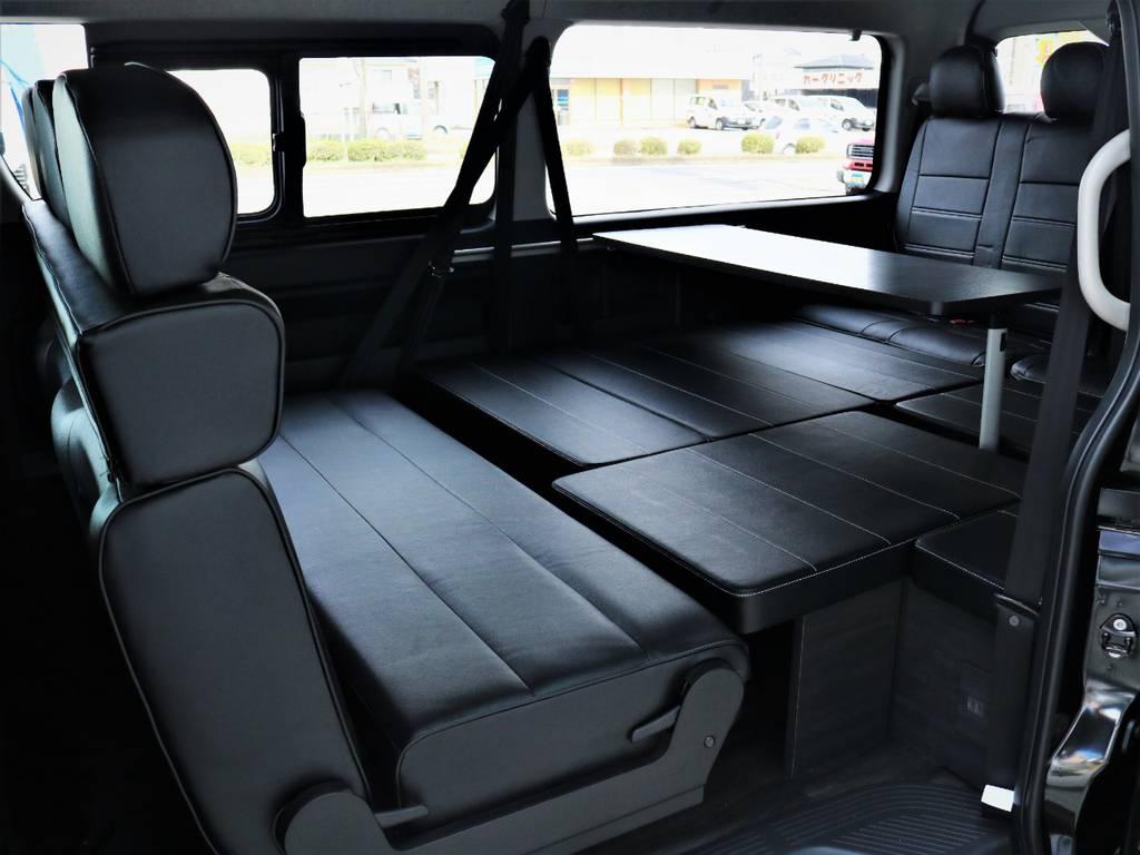 対面可能! | トヨタ ハイエース 2.7 GL ロング ミドルルーフ 内装アレンジVER2