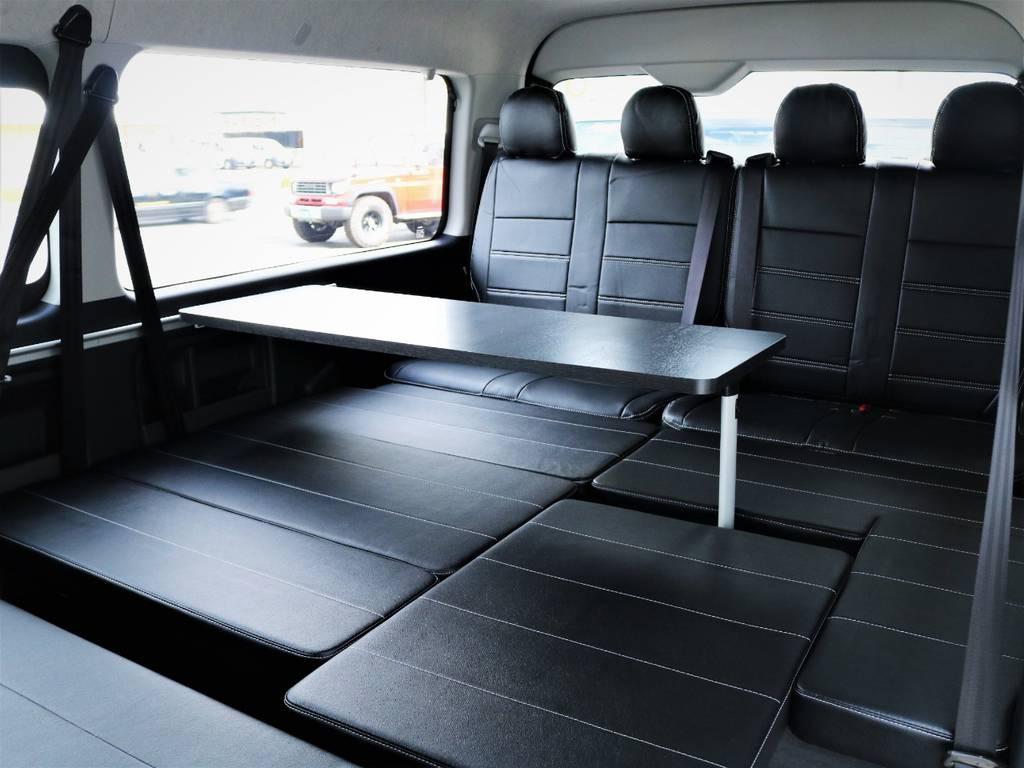 サイドテーブル付きです! | トヨタ ハイエース 2.7 GL ロング ミドルルーフ 内装アレンジVER2