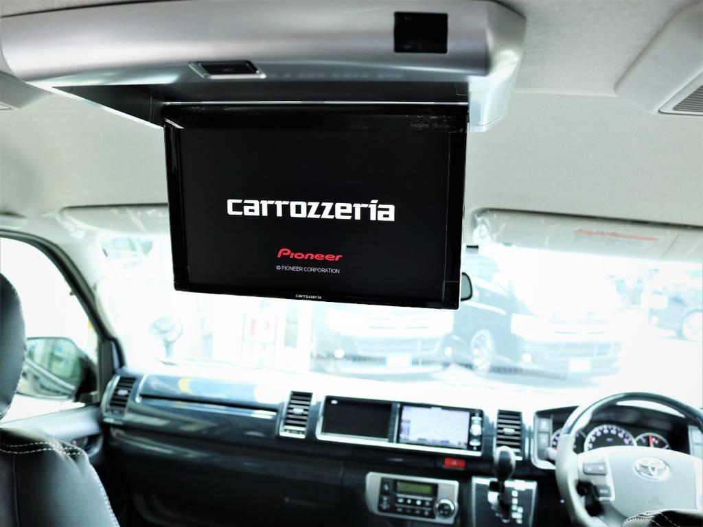 カロッツェリア製フリップダウンモニター! | トヨタ ハイエース 2.7 GL ロング ミドルルーフ 内装アレンジVER2