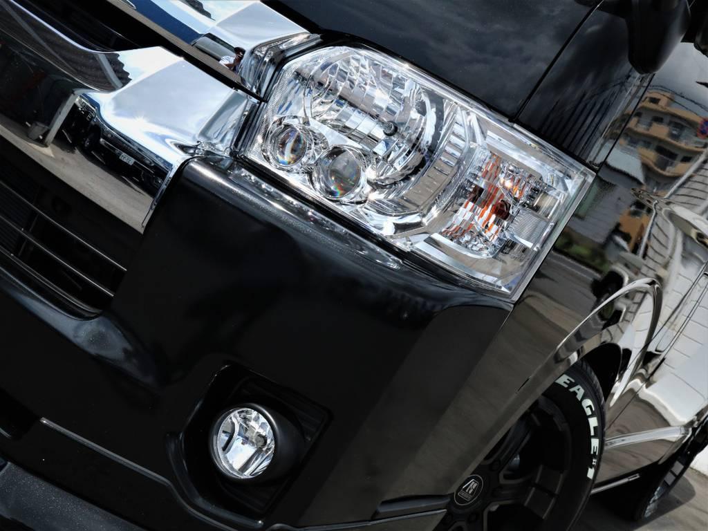 夜間走行に便利なメーカーオプション「LEDヘッドライト」! | トヨタ ハイエース 2.7 GL ロング ミドルルーフ 内装アレンジVER2