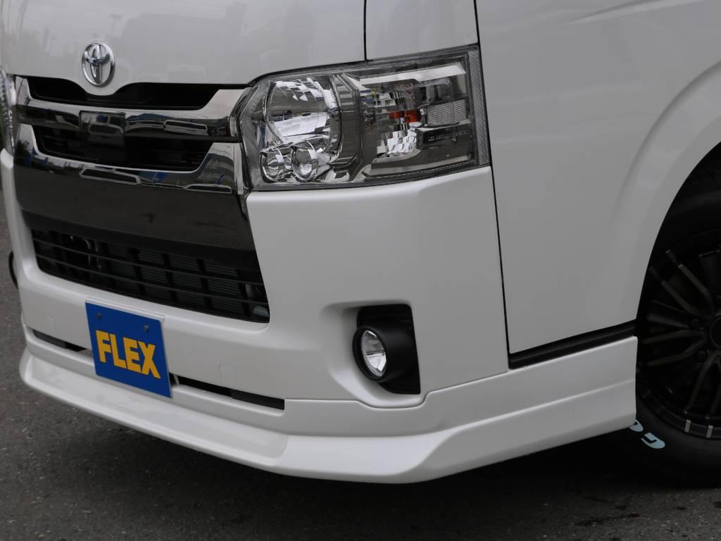 "FLEXオリジナルフロントリップスポイラー""Delfino line""!"