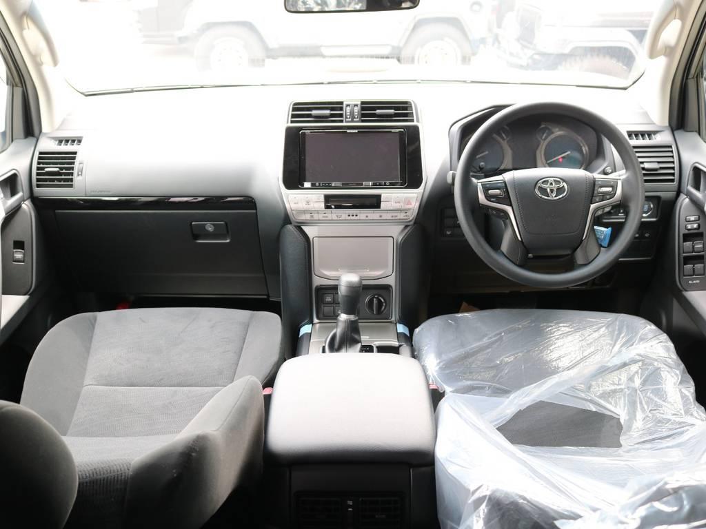 内装ブラック☆ | トヨタ ランドクルーザープラド 2.8 TX ディーゼルターボ 4WD 7人 新車未登録車 9インチナビ