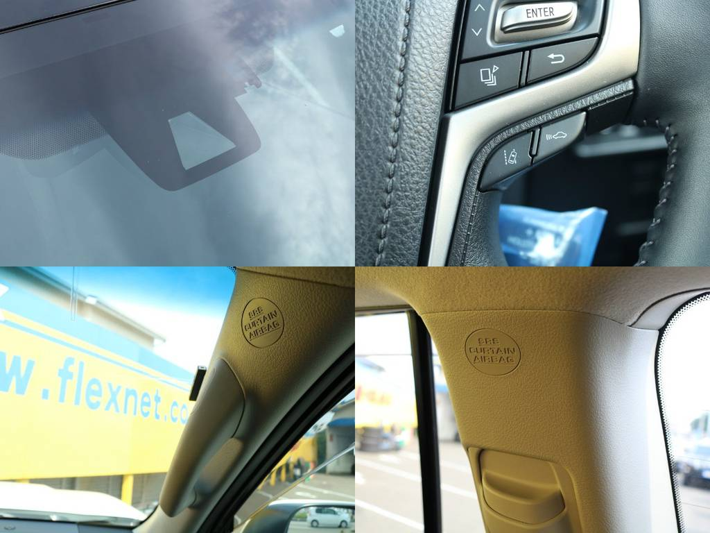 単眼カメラ、レーンディパーチャーアラート、レーダークルーズコントロール、各カーテンエアバッグ、と機能面、安全面ともに最新の装備が充実してます★ | トヨタ ランドクルーザープラド 2.8 TX ディーゼルターボ 4WD 5人 17AW&KO2 9ナビBカメ