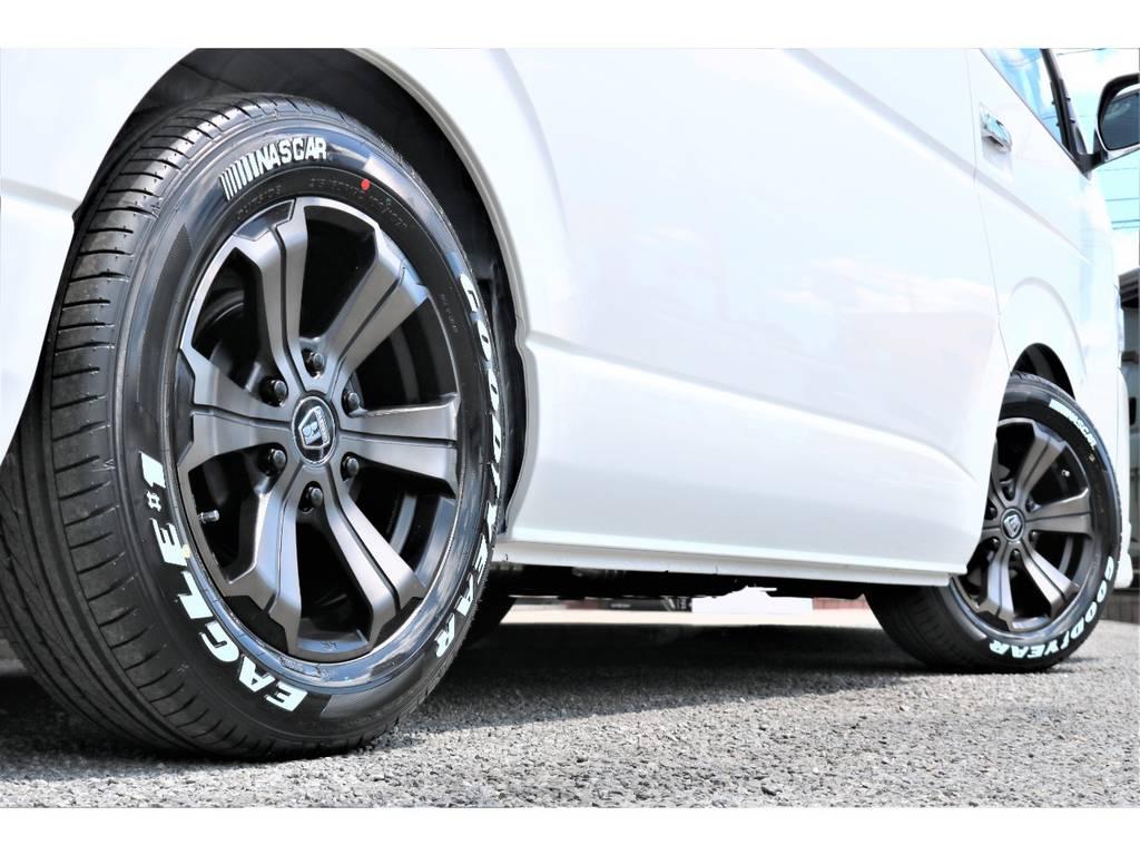 バルベロアーバン17インチアルミ&ナスカータイヤ!! | トヨタ ハイエース 2.7 GL ロング ミドルルーフ アレンジAS施工