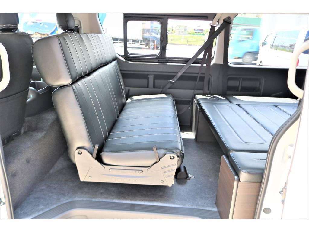 簡単に対面モードへアレンジ可能です♪ | トヨタ ハイエース 2.7 GL ロング ミドルルーフ アレンジAS施工