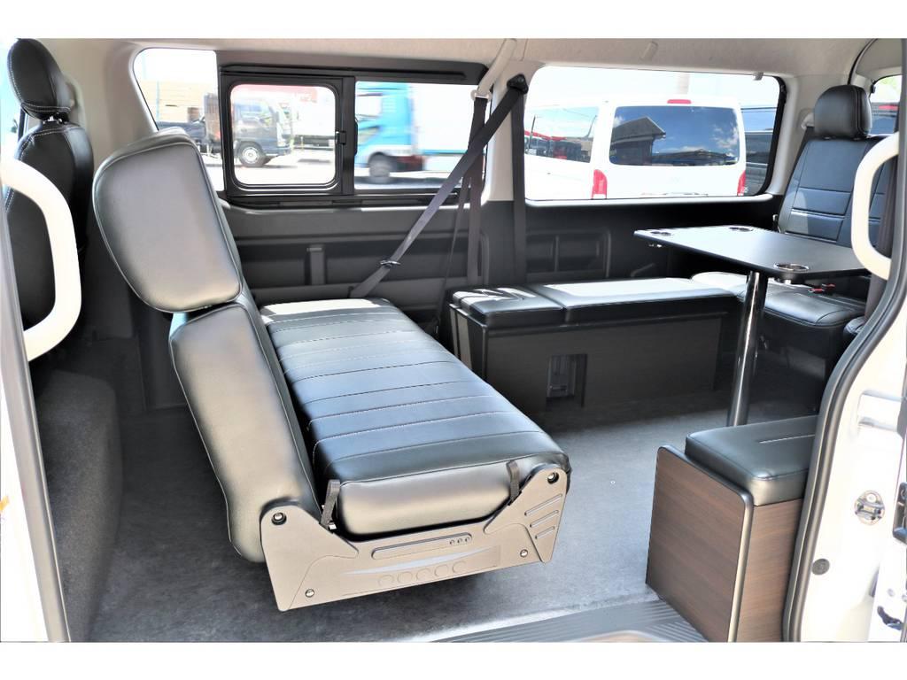 センターテーブルの取付けも可能です!! | トヨタ ハイエース 2.7 GL ロング ミドルルーフ アレンジAS施工