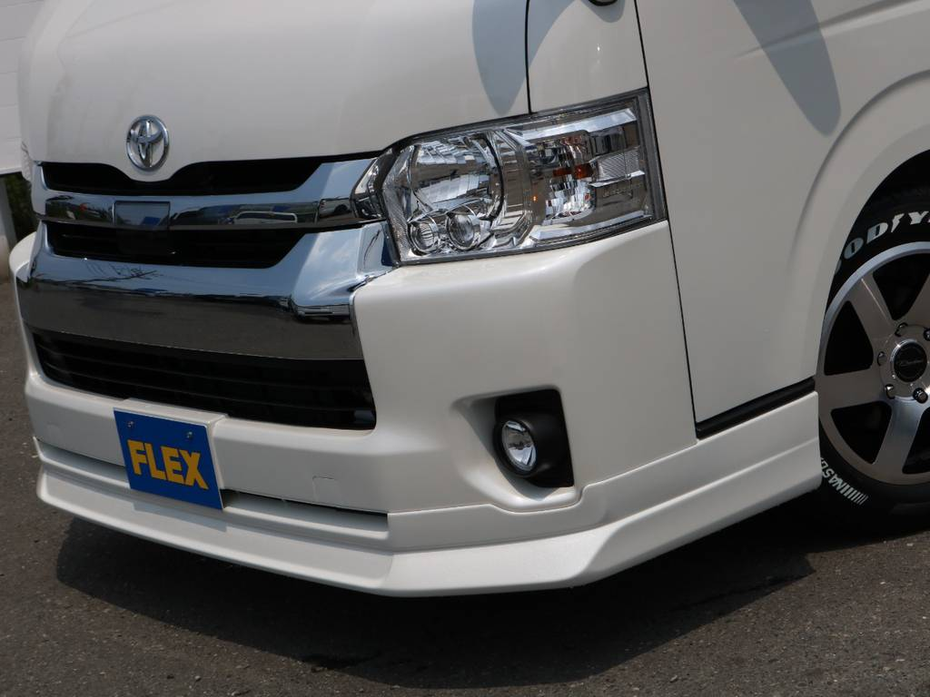 FLEX Delfinoフロントスポイラー♪ | トヨタ ハイエース 2.7 GL ロング ミドルルーフ アレンジAS トリプルモニター