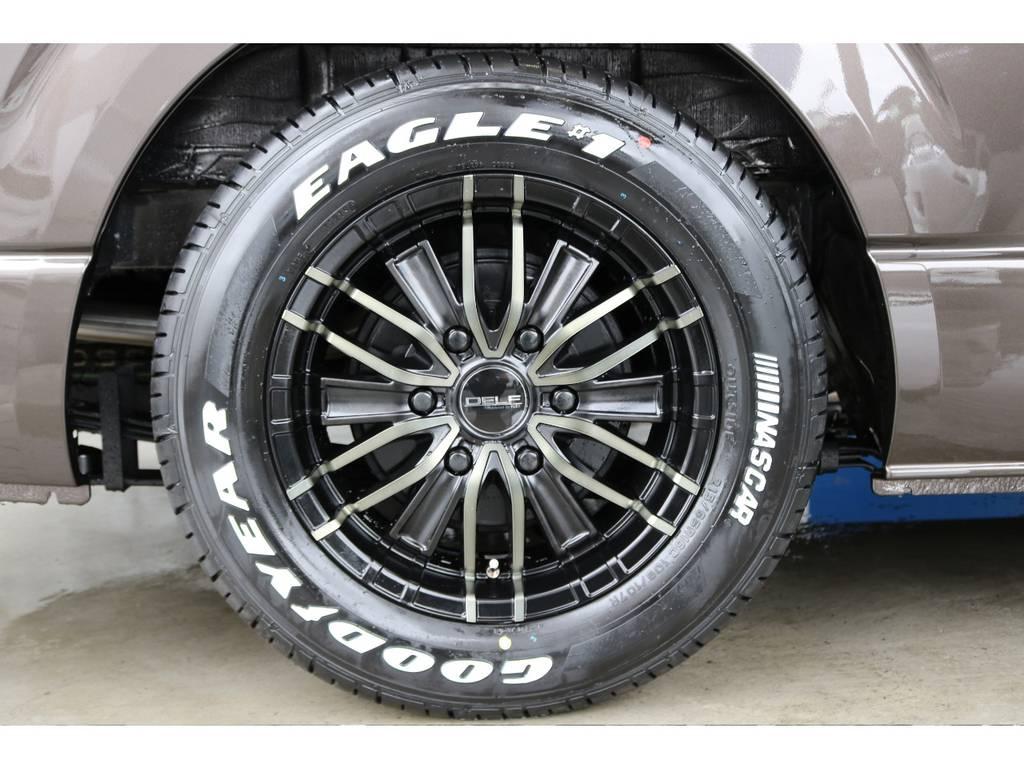 新品デルフMFゼロワン16インチAW/グッドイヤーナスカー16インチタイヤです! お好みのタイヤアルミに履き替えも大歓迎です♪