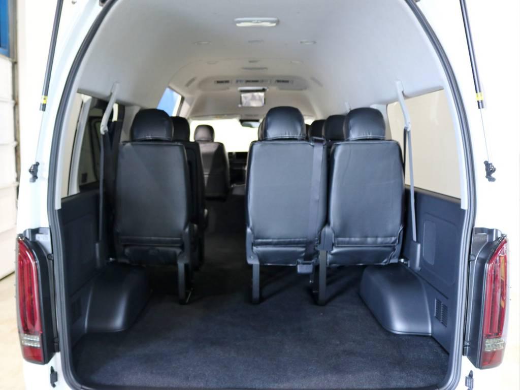 10人乗車でも荷物がタップリ積めます! | トヨタ ハイエース 2.7 グランドキャビン 4WD