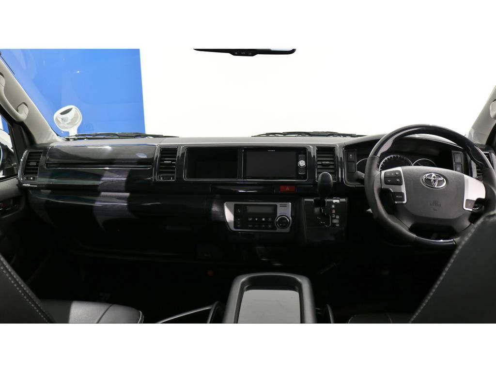 カロッツェリア製地デジメモリーナビ&フリップダウンモニター付きで楽しいドアライブを♪安心のメーカーオプションバックカメラ(ナビ出力加工済み) | トヨタ ハイエース 2.7 グランドキャビン 4WD