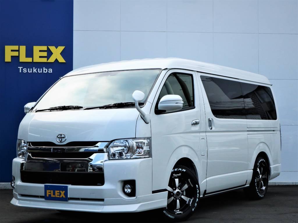 新車ハイエースW「GL」10人乗り4WD!SDナビ・フルセグTV・後席モニター・ETC・17AW・国産タイヤ♪