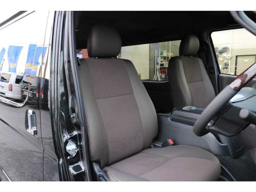 50TH専用ハーフレザーシート!! | トヨタ ハイエースバン 2.0 スーパーGL 50TH アニバーサリー リミテッド ロングボディ 415コブラフルエアロ