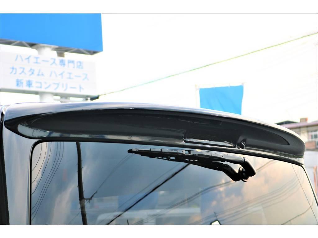 ステージ2リアウイング&LEDハイマウントランプ!! | トヨタ ハイエースバン 2.0 スーパーGL 50TH アニバーサリー リミテッド ロングボディ 415コブラフルエアロ