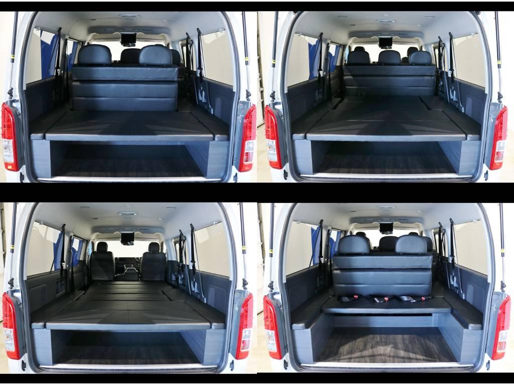 純正4列目シートを取り外す事で、後部荷室を有効活用出来る実用性重視の1台です!