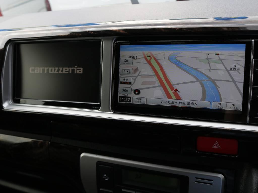 フロントはダブルモニターなので走行中のTV視聴も可能です!勿論Bluetoothも対応です♪