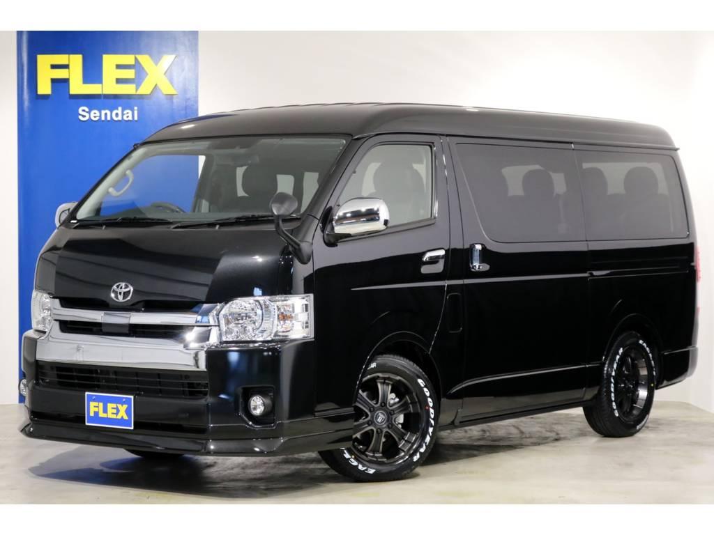 新車 ワゴンGL 4WD 寒冷地仕様 トヨタ・セーフティ・センス搭載!FLEXオリジナル内装架装「アレンジR1」!