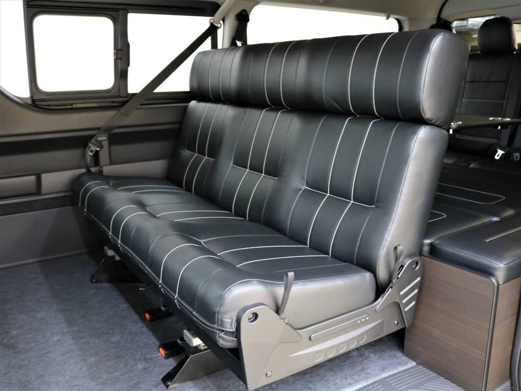 3人掛けセカンドシートが様々な仕様に早変わりします!