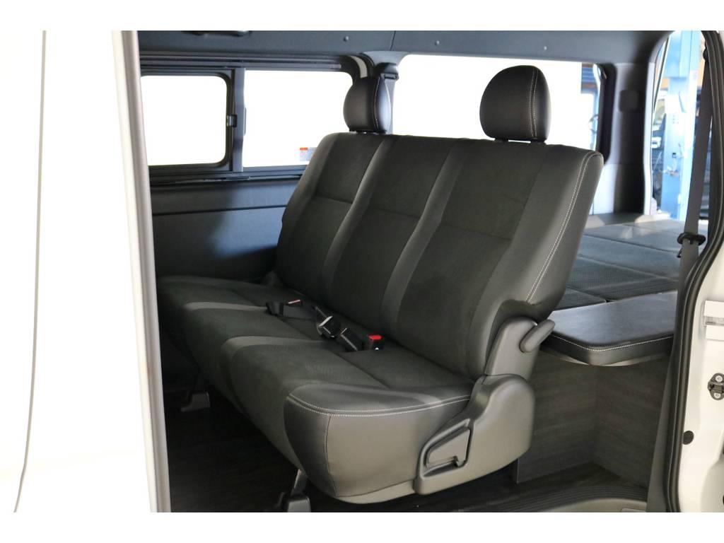 セカンドシートもリクライニング可能です!ゆったりと座れますね!