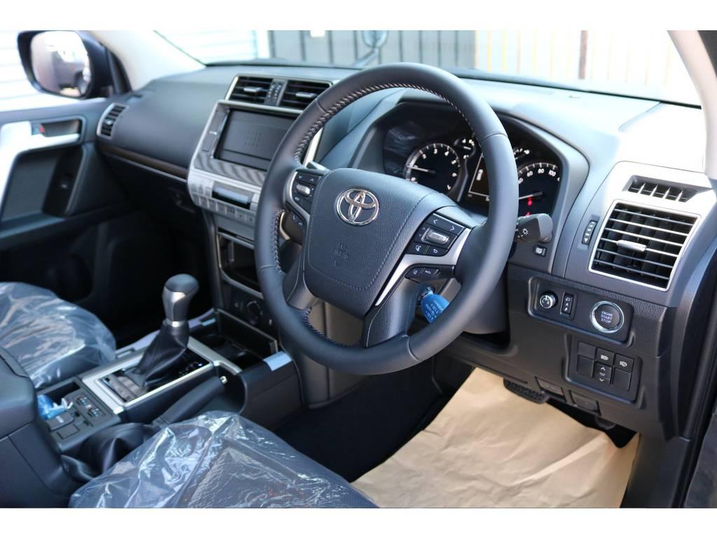 安全装備、快適装備も充実しております☆ | トヨタ ランドクルーザープラド 2.7 TX Lパッケージ 4WD 新車未登録 即ご納車OK
