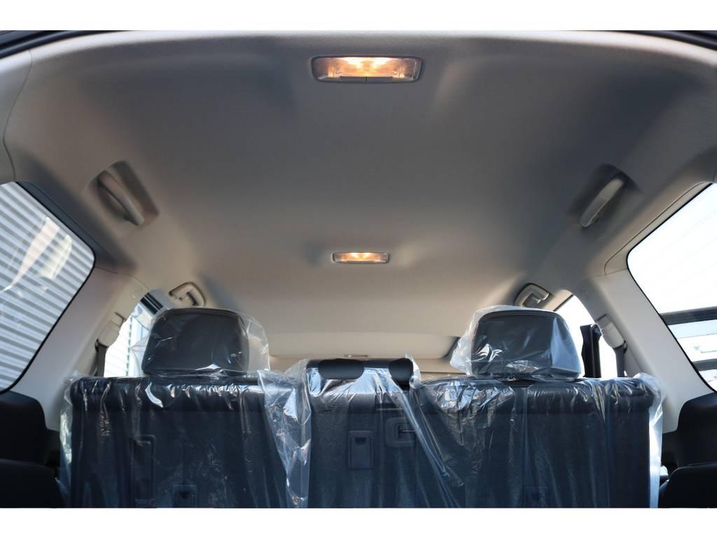 天張りももちろん綺麗です☆ルームランプをLEDにすることも出来ます☆ | トヨタ ランドクルーザープラド 2.7 TX Lパッケージ 4WD 新車未登録 即ご納車OK