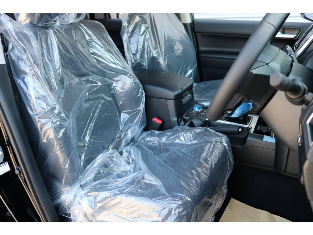 新車なのでまだビニール付き☆ | トヨタ ランドクルーザープラド 2.7 TX Lパッケージ 4WD 新車未登録 即ご納車OK