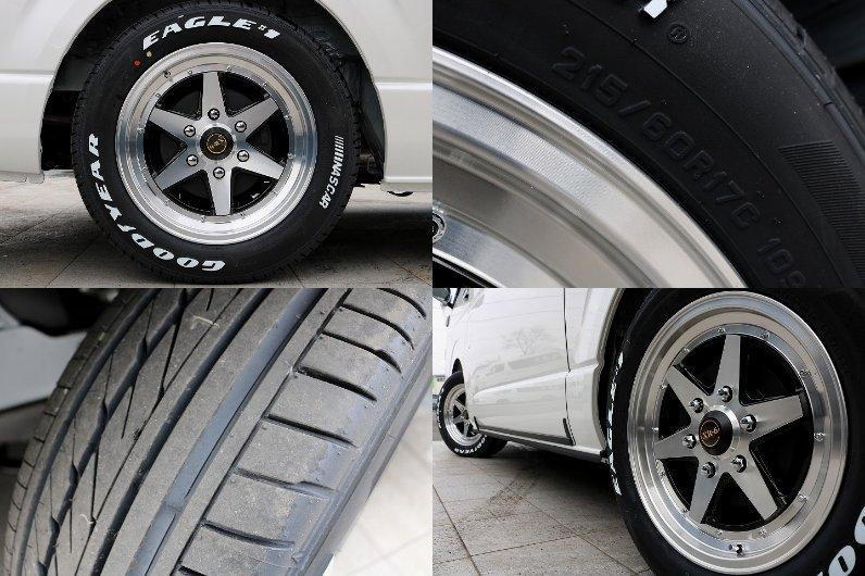 ファブレスヴァローネ17インチAWにナスカータイヤの組み合わせとなっております!