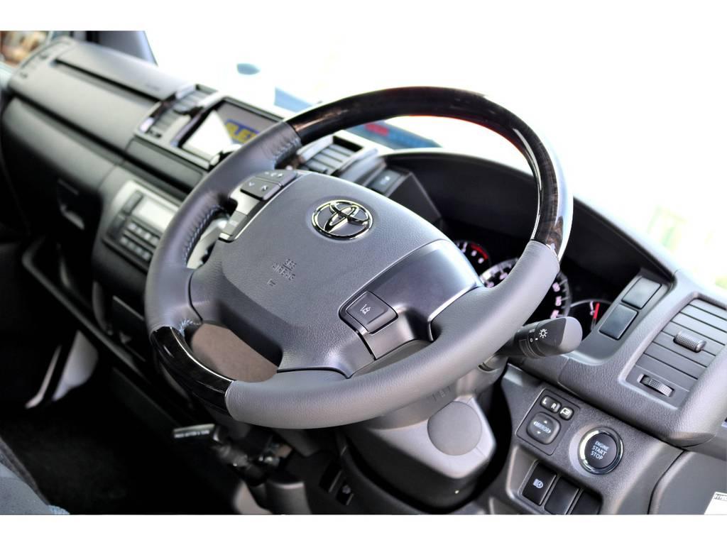 ダークプライム専用ステアリング!プッシュスタートやステアリングスイッチも標準装備の特別仕様車!