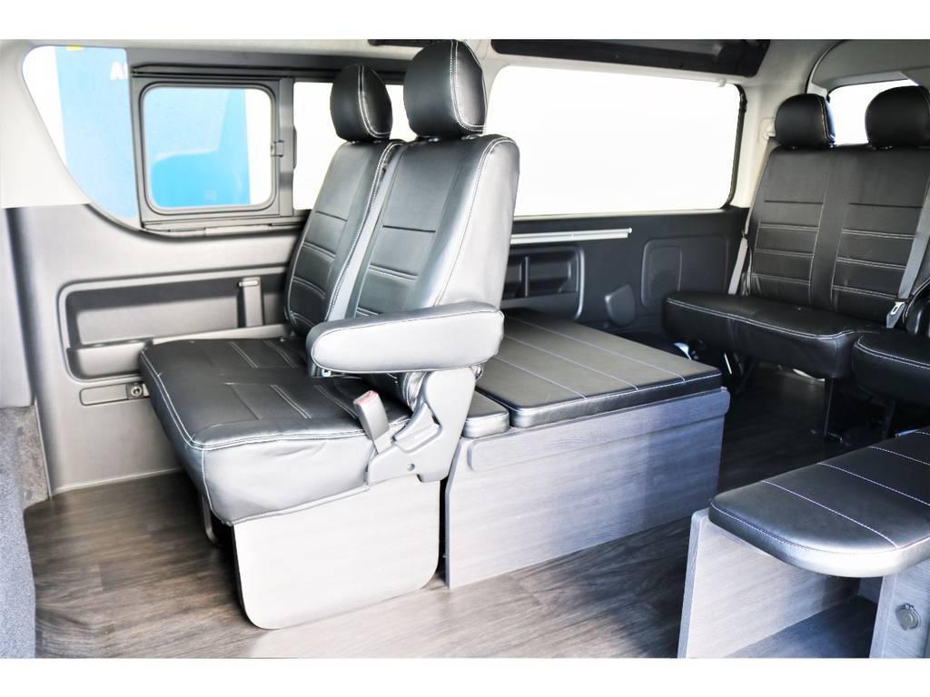 座り易く移動も楽々なシートモード!荷物もたくさん置けます!