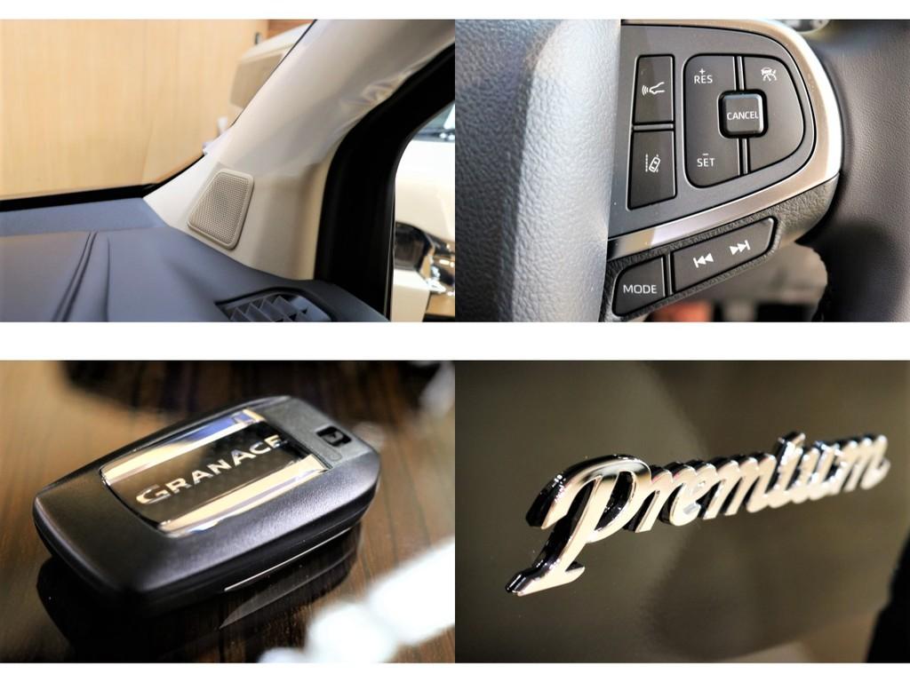 全12スピーカー装備で全席で快適かつ立体感のある音質を体感できます★新機能ウェルカムパワースライドドア・予約ドアロック等機能多数のスマートキー♪全国納車対応&リース承ります♪