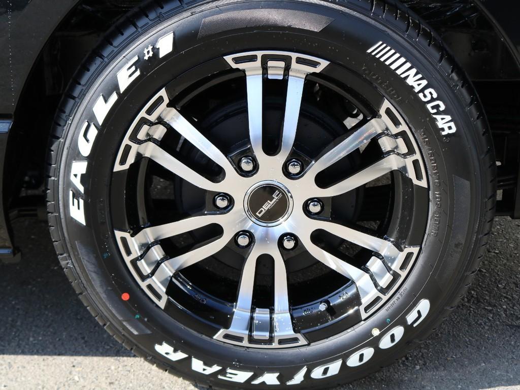 DELF06の17インチアルミホイール&グッドイヤーのナスカータイヤ!