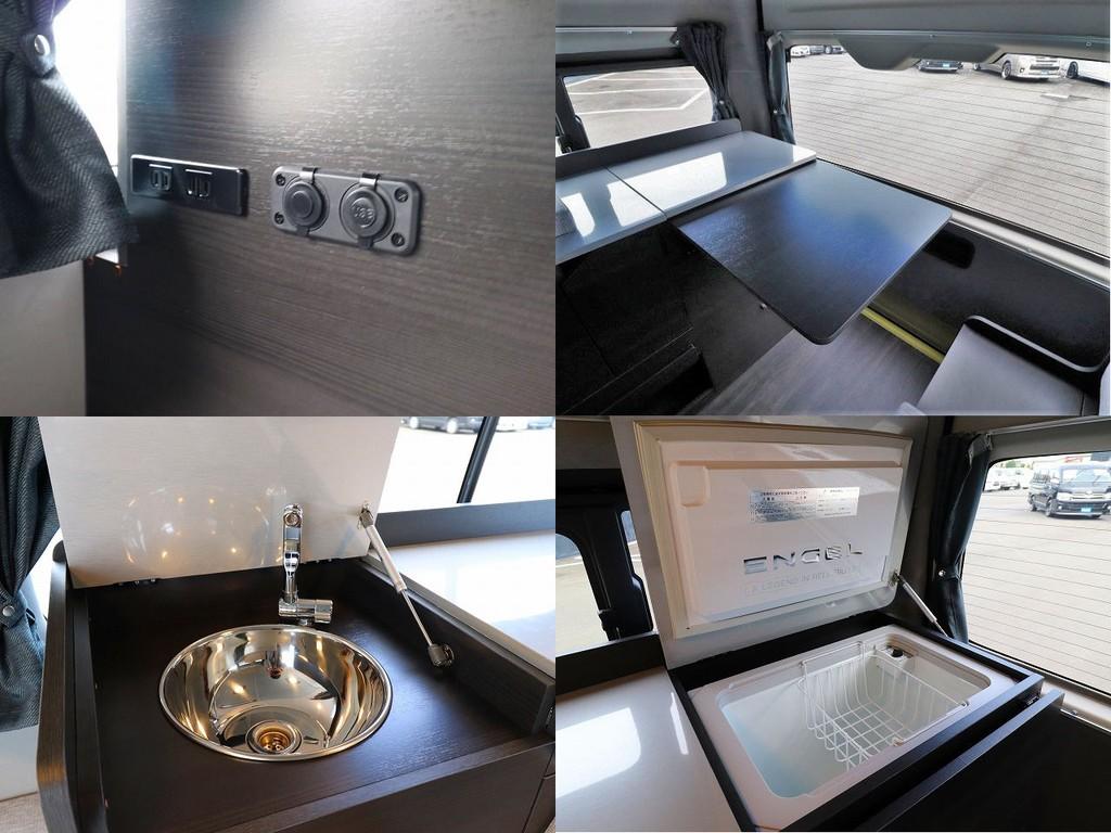 シンクや冷蔵・冷凍庫も装備されております!