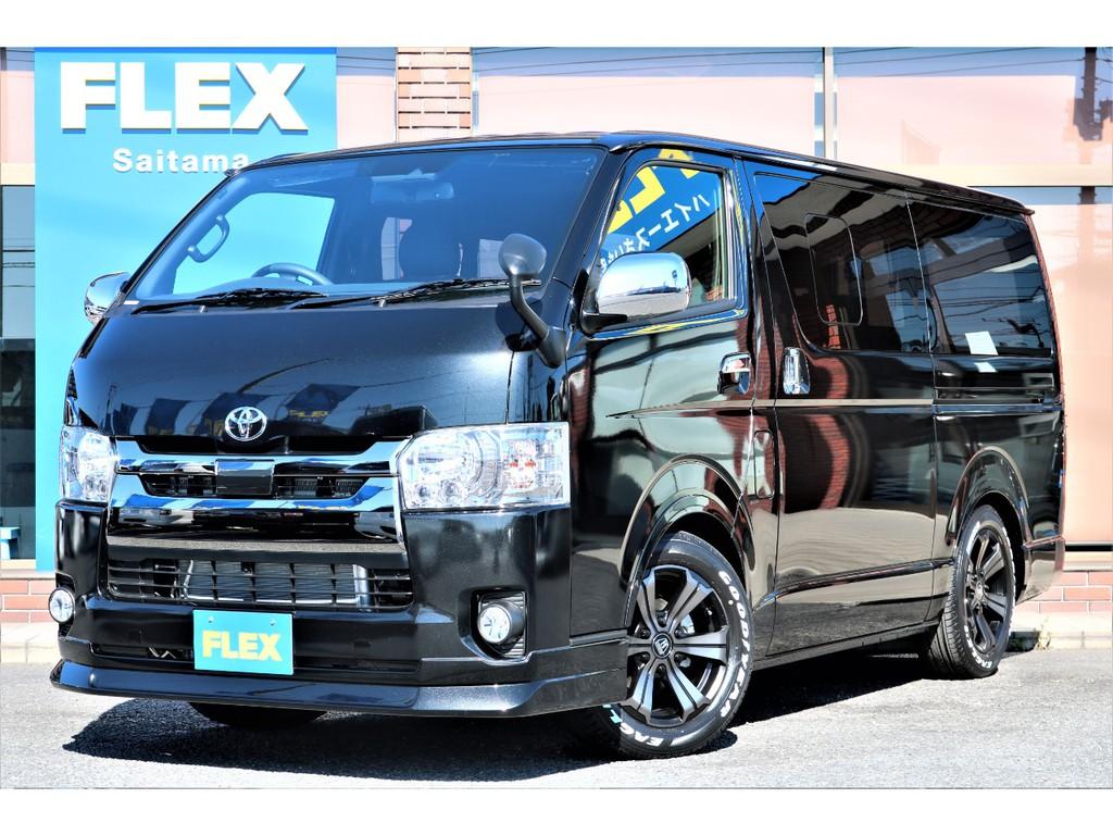 新車 ハイエース S-GL ダークプライムⅡ 小窓付き ガソリン2WD 人気のカスタムを豊富にインストールしたお買い得の1台です。即納車可能☆